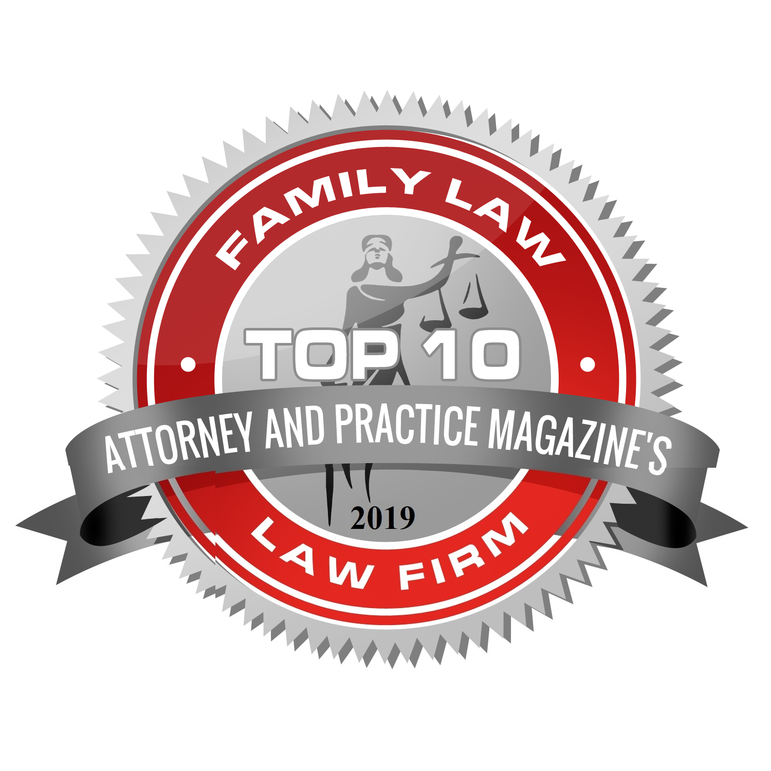 Attorney and Practice Magazine - 2019 Top 10 Family Law Law Firm